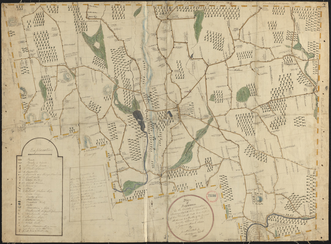 Plan of Royalston made by Jonathan Blake, Jr., dated February 3, 1831