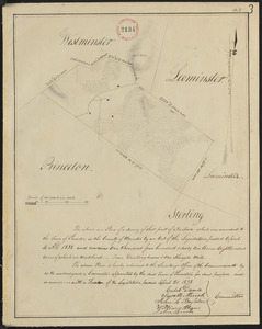 Plan of No Town (Princeton), surveyor's name not given, dated 1838