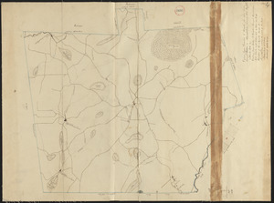 Plan of Princeton made by Amos Meriam, dated October 1830