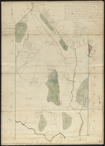 Plan of Mendon made by Newell Nelson, dated June 1830