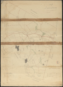Plan of Lunenburg made by Cyrus Kilburn, dated 1831