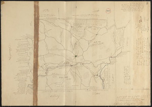 Plan of Grafton made by Charles Brigham Jr. dated 1831