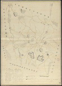 Plan of Sterling made by Moses Sawyer, dated 1830