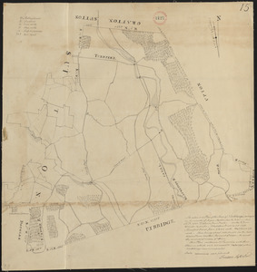 Plan of Northbridge made by Frederic Taft, dated November 1830