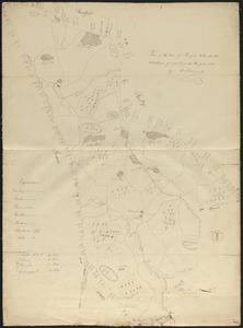 Plan of Boxford made by Moses Dorman, Jr. dated 1830
