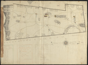 Plan of Amherst made by E. S. Darling dated August 1830
