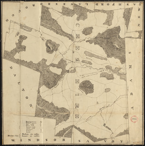 Plan of Cheshire, surveyor's name not given, dated 1830