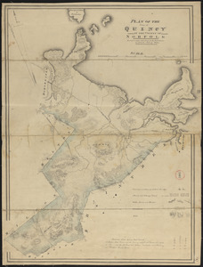 Plan of Quincy made by John G. Hales, dated 1830