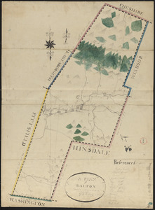 Plan of Dalton made by M. H. Eames, dated October 27, 1831