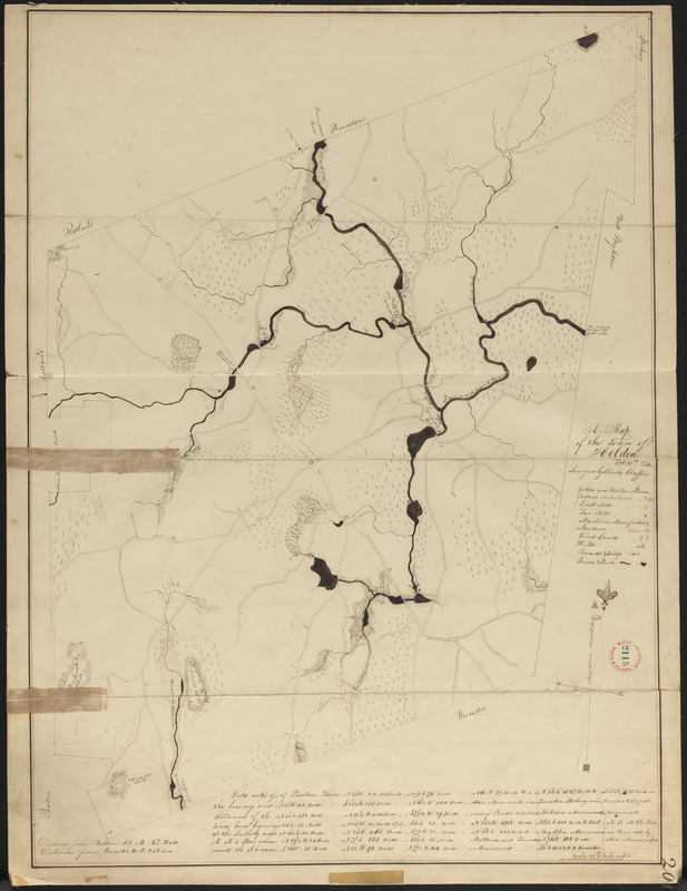 Plan of Holden made by Charles Chaffin, dated October 20, 1831
