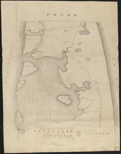 Plan of Wellfleet made by Oliver Arey, dated 1841