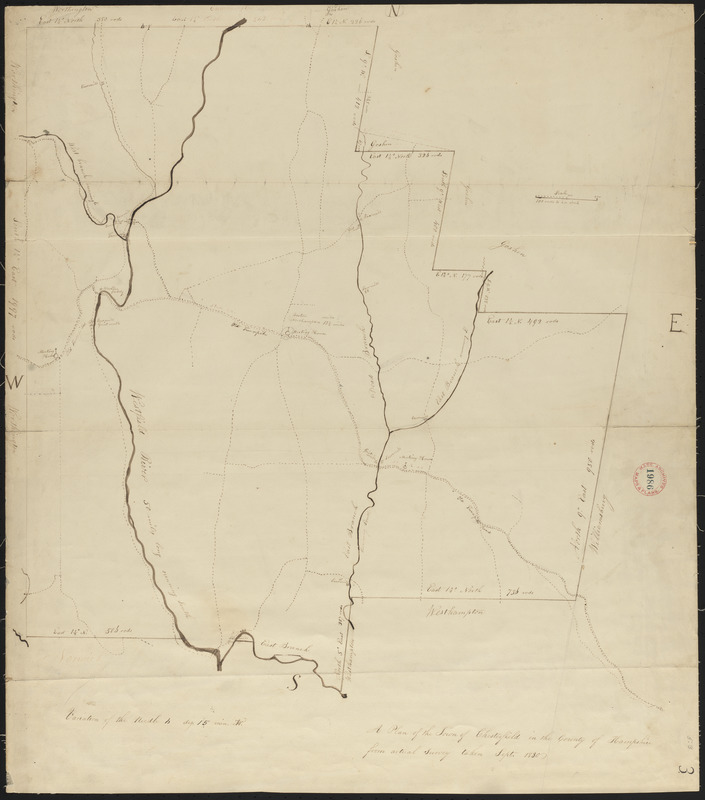 Plan of Chesterfield, surveyor's name not given, dated 1830