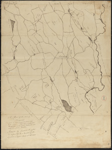 Plan of Hardwick made by Gardner Ruggles, dated 1830