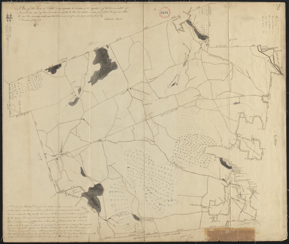 Plan of Sutton made by Zephaniah Keach, dated December 29, 1830