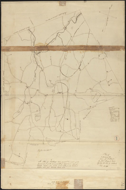 Plan of Rutland made by John King, dated November 1830