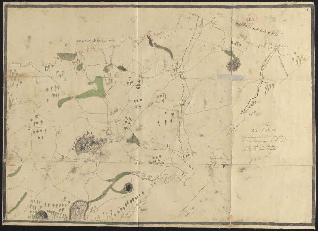 Plan of Westminster, surveyor's name not given, dated June 1831