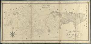 Plan of Rowley made by Philander Anderson, dated July 1830