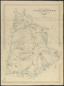 Plan of Chelmsford made by John G. Hales, dated 1831