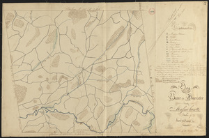 Plan of Barre made by David Lee and Samuel Lee, dated June 1830