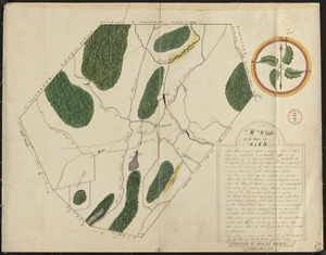Plan of Ward (Auburn) made by Hervey Peirce, dated February 1831