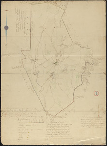 Plan of Upton made by Nahum W. Holbrook, dated 1831