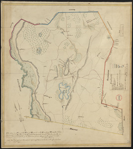 Plan of Harvard made by Silas Holman, dated 1830