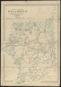 Plan of Billerica made by John G. Hales, dated 1831
