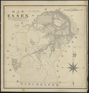 Plan of Essex made by Philander Anderson, dated November, 1830