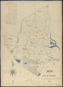 Plan of Danvers made by John W. Proctor, dated 1831