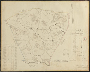 Plan of Southborough made by Larkin Newton, dated 1831