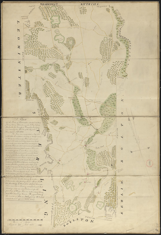 Plan of Lancaster made by Jacob Fisher, dated November 26, 1830