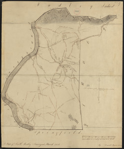 Plan of South Hadley made by Daniel Paine, dated March 1831