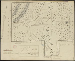 Plan of Pelham made by Cook, Zeba, and John Parmenter, dated October, 1830