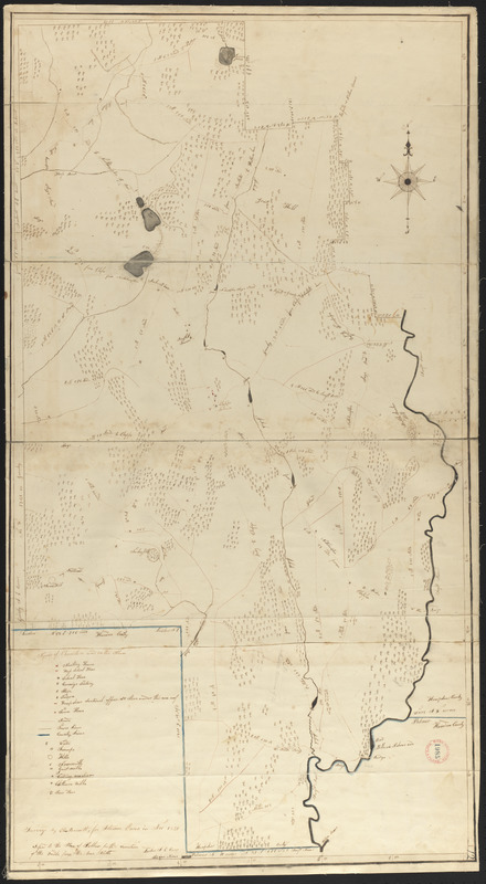 Plan of Belchertown made by Elias Bassett, dated November, 1830