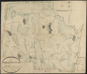 Plan of Becket made by Luke Barber, dated October 26, 1831