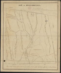 Plan of Bernardston made by Henry W. Cushman, dated October, 1830