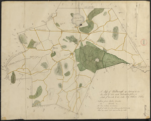 Plan of Westborough made by Nahum Fisher, dated 1830