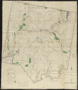 Plan of Winchendon made by Elias Whitney, dated January 1831