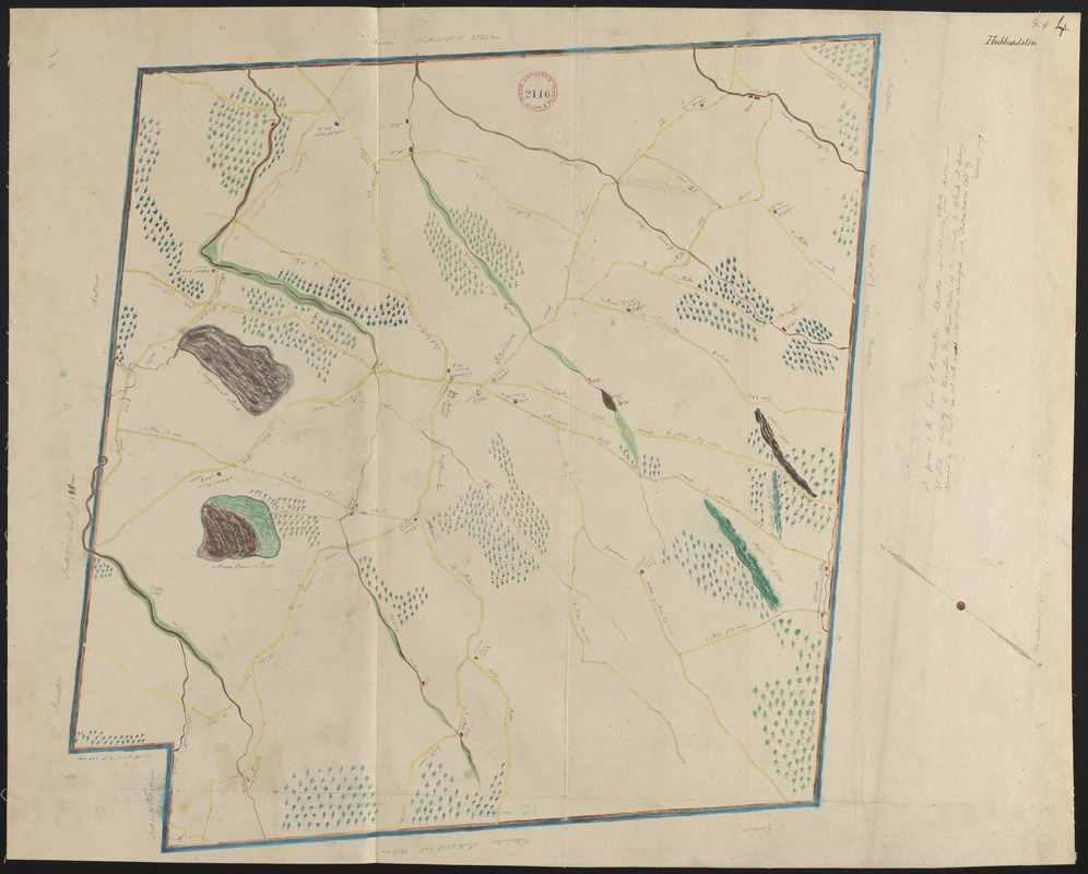 Plan of Hubbardston made by William Young, dated 1831