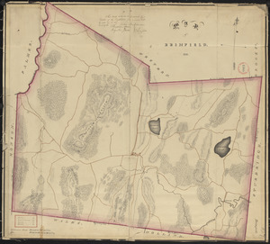 Plan of Brimfield, surveyor's name not given, dated 1831