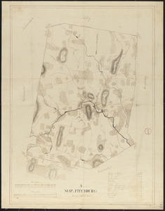 Plan of Fitchburg, surveyor's name not given, dated October, 1830