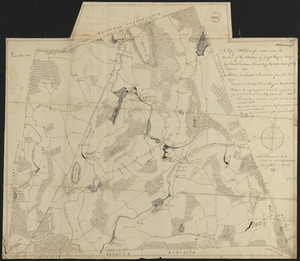 Plan of Attleborough made by Joseph W. Capron, dated March, 1831
