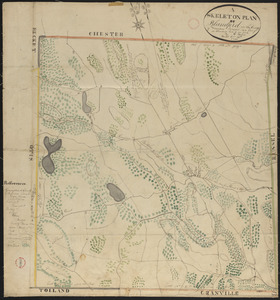 Plan of Blandford made by Luke Barber, dated October 24, 1831