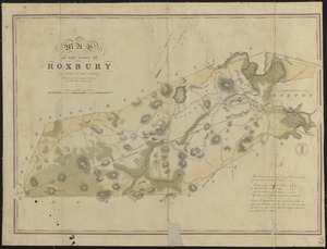 Plan of Roxbury made by John G. Hales, dated 1830