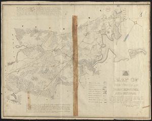 Plan of Dorchester and Milton, made by Edmund T. Baker, dated September, 1831