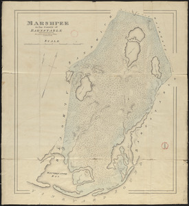 Plan of Mashpee made by John G. Hales, dated 1831