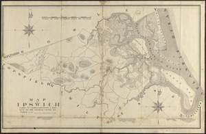 Plan of Ipswich made by Philander Anderson, dated 1831
