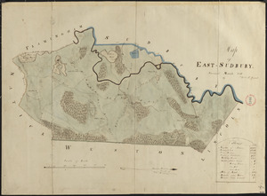 Plan of Wayland (East Sudbury) made by William C Grout, dated March, 1831