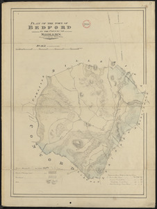 Plan of Bedford made by John G. Hales, dated 1830