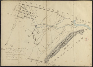 Plan of Easthampton made by Justus Dwight, dated May 1831